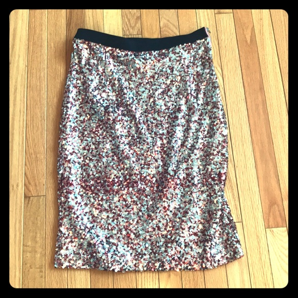 French Connection Dresses & Skirts - French Connection Pink Sequin Pencil Skirt